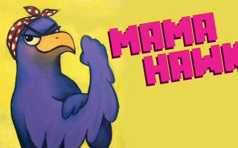 Mama Hawk Title Card